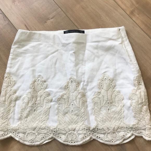 9570d5d499 Zara Skirts   Trafaluc Embroidered Mini Skirt Sz M   Poshmark
